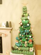 Egg box xmas tree